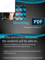 Directing Report Ppt
