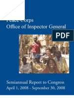 Peace Corps OIG Semiannual Report to Congress April 1, 2008 to September 30, 2008         SARC_20080930