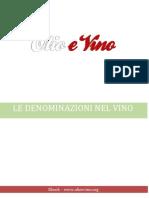Le denominazioni nel Vino