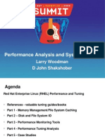 Performance Analysis and System Tuning (Woodman,Shakshober)