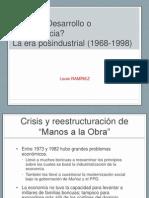 ¿Desarrollo o dependencia_ La era posindustrial (1968-1998)