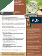Root Cause Analysis, 10 - 12 June 2012 Dubai, UAE