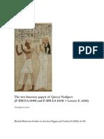 Lenzo, The Two Funerary Papyri of Queen Nedjmet (P. BM EA 10490)