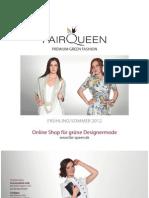 FAIR QUEEN Booklet FS12