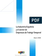La industria española y el sector de las empresas de trabajo temporal(Es)/ Spanish industry and the sector of temporary employment agencies(Spanish)/ Espainiako industria eta aldi baterako enplegua eskaintzen duten enpresen sektorea(Es)