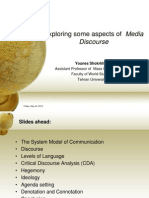 Copy of Discourse Impacts of the Global Media