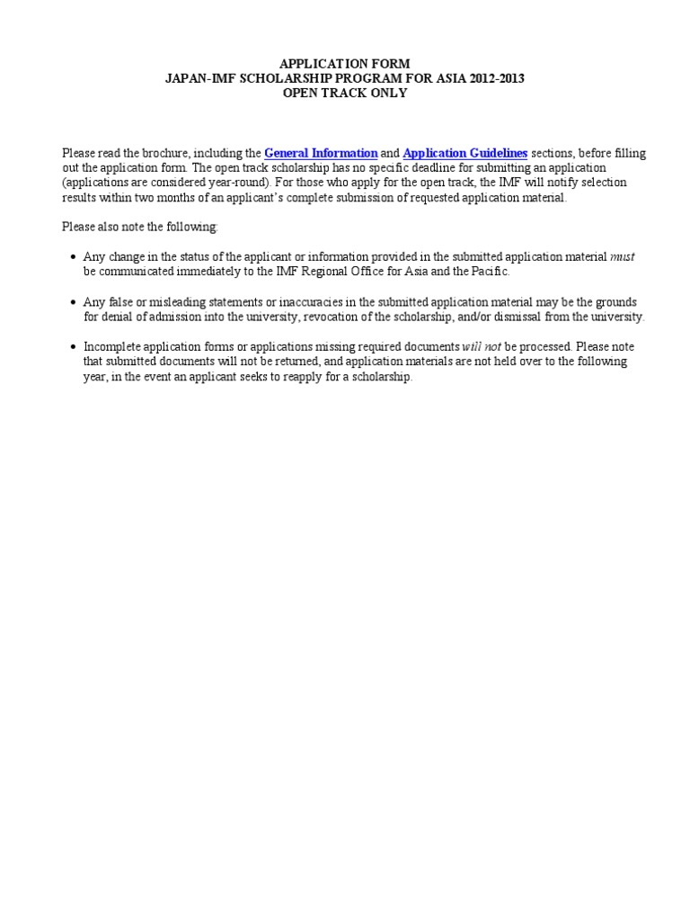 Japan-IMF Application Form   Academic Degree   Undergraduate