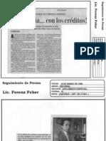 ¡Prudencia...con los créditos! 18 de Marzo de 1996-Reforma Suplemento Especial