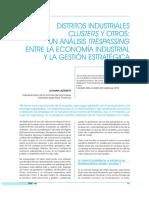 Distritos industriales, clusters y otros