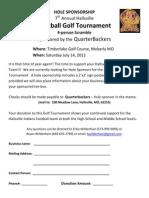 7th Annual Hallsville Football Golf Tournament Hole Sponsor