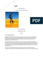 Contoh Proposal Futsal