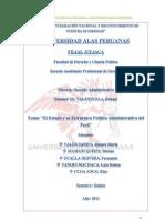 La Estructura Organizativa Del Estado Peruano Trab. Final Derecho Administrativo