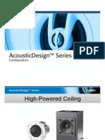 AD Series Hi-Powered Ceiling Loudspeakers Intl