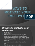 20 Ways to Motivate You Employees
