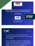 Competitividad de Las Ciudades Mexicanas