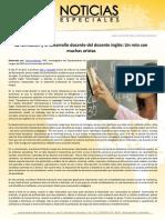 La formación y el desarrollo docente del docente inglés