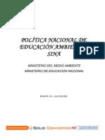Politica Nacional Educacion Ambiental