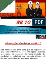 Apresentação NR 10 - Chrismar