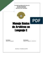 Manejo de Archivos en Lenguaje C