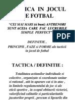 Tactica in Jocul de Fotbal