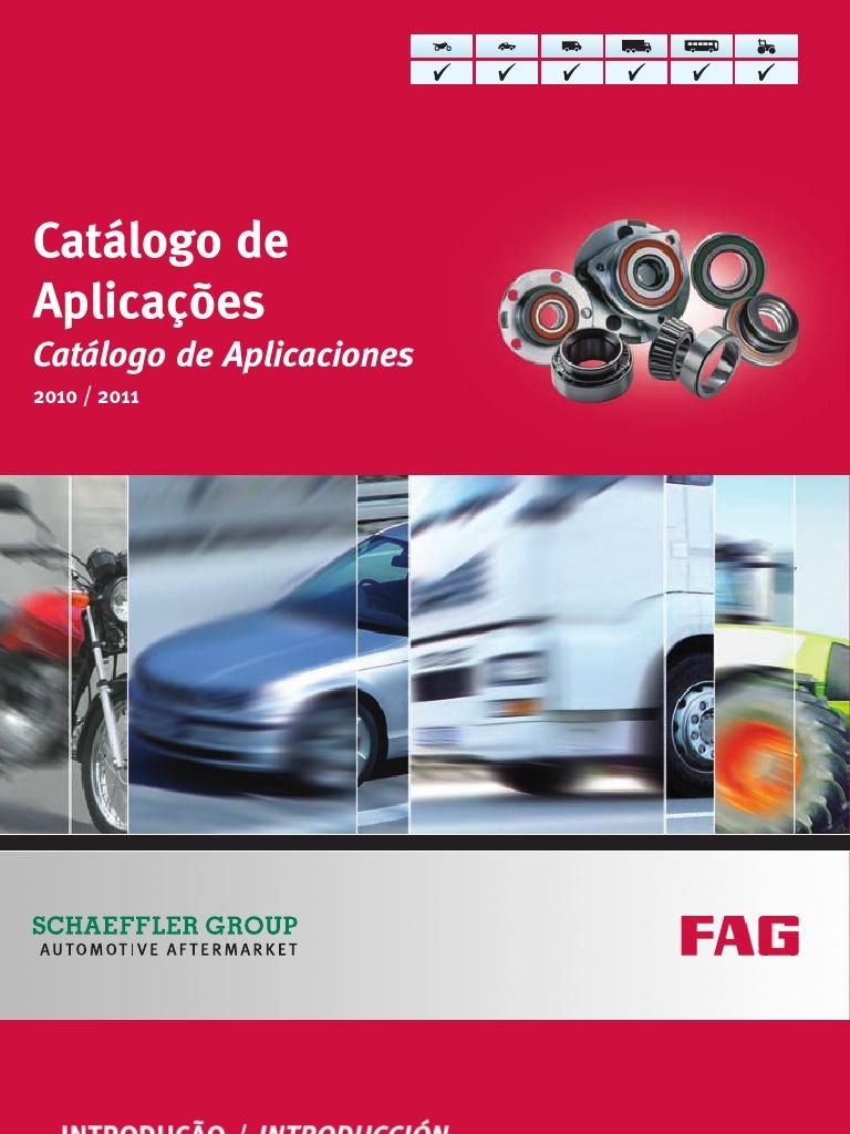 Fag cat logo de rolamentos automotivos 2011 2012 for Catalogo pdf