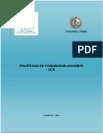 POLÍTICAS DE FORMACION DOCENTE UCA MANAGUA,