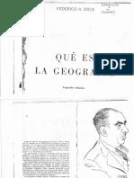 Daus, Federico. Qué es la Geografía.