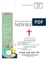 Hill UP Church Newsletter May 2012