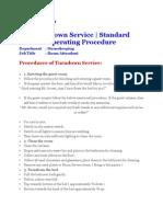 Turndown Service Procedure