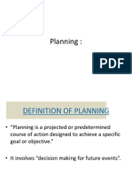 Planning by Dr. Adil
