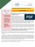 Bulletin d'Information Hebdomadaire Du Bureau Du Procureur 24 Avril - 1 Mai 2012 #119 Copy