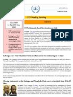 OTP Weekly Briefing 24 April-1May 2012 #119 Copy