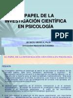 EL PAPEL DE LA INVESTIGACIÓN CIENTÍFICA EN PSICOLOGÍA