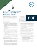 Dell Latitude e5410 e5510 Datasheet
