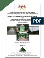 Executive Summary DEIA for Proposed Development of Sanitary Landfill Negeri Sembilan 1