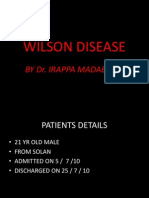 Wilson Disease by Dr Irappa Madabhavi