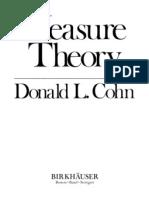 Measure Theory (Cohn)