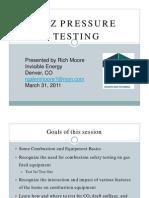 CAZ Pressure Testing