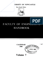 Faculty of Engineering Handbook 1984