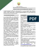 Edital de Abertura - Montes Altos