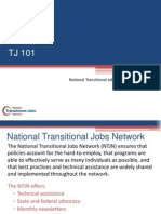 Transitional Jobs 101