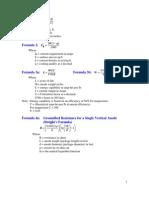 Formulas for Galvanic Design