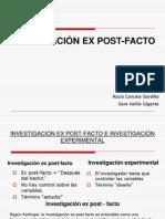 INVESTIGACIÓN EX POST FACTO