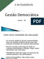 SLIDES - GESTÃO DEMOCRÁTICA