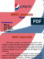 30755295 Swot Analysis Pepsi