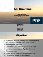 "Our ""Global Dimming"" Presentation"