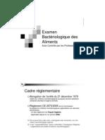 Cours Examen Bacteriologique Des Aliments 2008