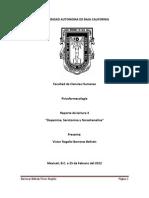 Psicofarmacología (Dopamina, Serotonina y Noradrenalina)