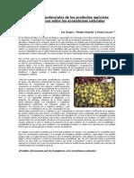 Los efectos potenciales de los productos agrícolas transgénicos sobre los ecosistemas naturales