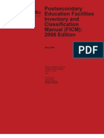 Post Secondary Education Facilities Inventory and Classification Manual (FICM)